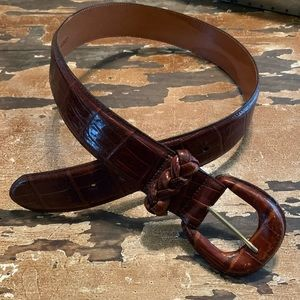 Brighton medium brown leather belt